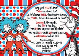 dr seuss baby shower invitations dr seuss baby shower invites for