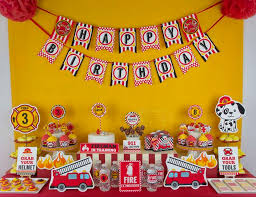 truck birthday party truck firefighter birthday engine birthday party