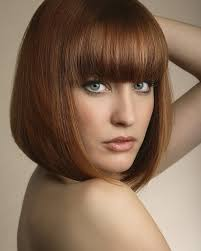 how to cut hair straight across in back funky bob haircut with straight bangs 01 latest hair styles