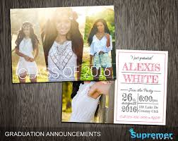 announcements for graduation graduation open house invitation template with pictures