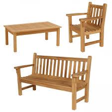 Teak Benches Barlow Tyrie London Teak Bench Set