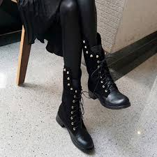womens boots motorcycle biker boots retro rivet womens motorcycle boots fashion boots on