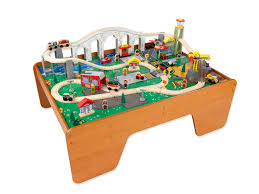 kidkraft train table set 52 train sets for kids with table aero city train table set
