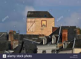 mayenne city old buildings mayenne city a trompe l oeil wall mayenne city old buildings mayenne city a trompe l oeil wall mural on a house loire country france