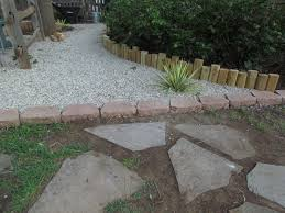Pea Gravel Concrete Patio by Exterior Interesting Stone Walkway With Pea Gravel Patio And