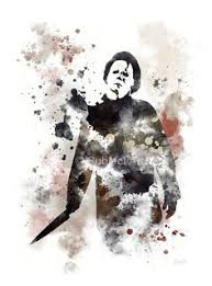 michael myers from an iconic scene in the film halloween