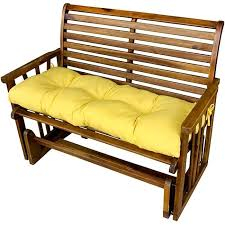 Garden Bench With Cushion Suncrest Yellow Outdoor Bench Cushion Free Shipping On Orders