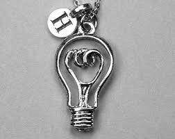 light bulb necklace etsy