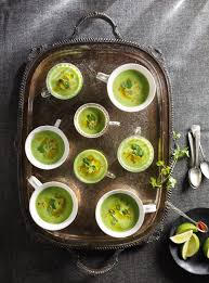 ricardo cuisine noel crème de petits pois huile au pesto coriandre et lime ricardo