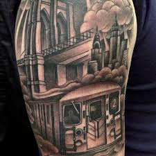 tattoo pictures of new york riding the rails with new york city subway tattoos tattoodo