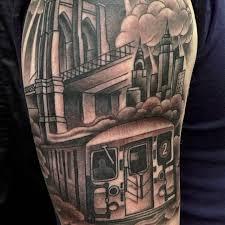 riding the rails with new york city subway tattoos tattoodo