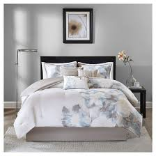 Purple Floral Comforter Set Jasmine Watercolor Floral Comforter Set 7 Piece Target