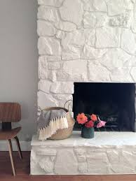 Decorate Inside Fireplace by Best 20 Stone Fireplace Makeover Ideas On Pinterest Corner