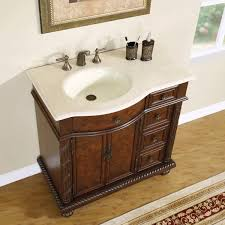 36 inch marble countertop off center sink bathroom single vanity