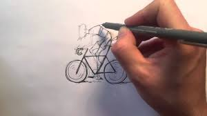 how to draw a cyclist on a bike youtube