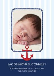 nautical themed baby announcements birth announcements templates