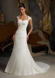 chiffon wedding dress morilee madeline gardner bridal delicate lace appliques on