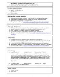 Resume Format Template Microsoft Word Free Microsoft Word Resume Template Resume Template And