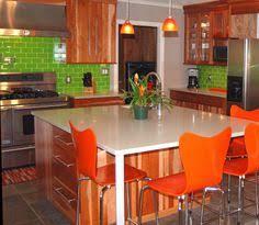 Bright Colored Kitchens - green quartz countertop pro range hood designer kitchens la 07