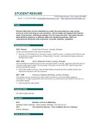 Resume Paragraph Format Simple Resume Examples For College Students Simple Student Resume