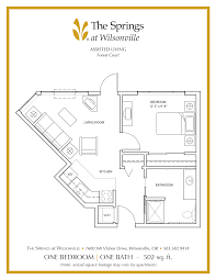 senior apartment floor plans the springs at wilsonville