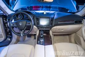 maserati levante interior back seat 2017 maserati levante launched in malaysia 3 0l diesel priced at