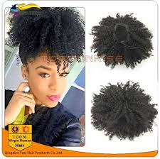 hair pony tail for african hair 100 human hair drawstring afro kinky curly ponytail malaysian
