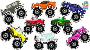 monster truck colors learn colors monster trucks colour