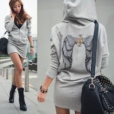 angel wings printed mini hoodie sweatshirt on luulla