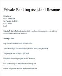 Private Banker Resume Sample by 21 Banking Resume Templates Free U0026 Premium Templates