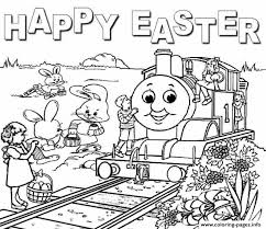 thomas train easter sc421 coloring pages printable