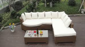 rattan sleeper sofa home lounge sofa with pillow synthetic rattan sleeper sofa bed