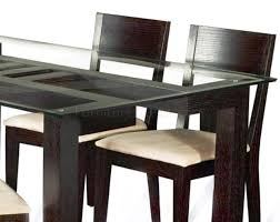 glass top dining room tables rectangular table wood table bases modern glass dining table wood tops for
