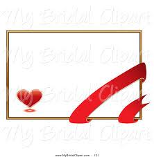 bridal clipart of a romantic white valentine u0027s day card with a