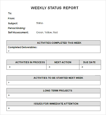 Daily Report Sheet Template 7 Weekly Status Report Templates Word Excel Pdf Formats