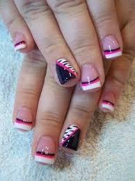 black and pink nail pink and black nail pink nail nail
