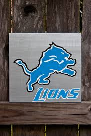 Detroit Lions Home Decor by Detroit Lions Acrylic Painting Detroit Lions Detroit Lions