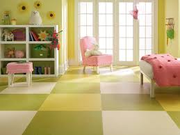 Yellow Green White Bedroom Living Room Linoleum Flooring Ideas Gives A Neat Landscape