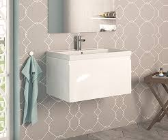 600 Vanity Unit Loft White 600 Depth Wall Hung Vanity Unit With Sink Bathrooms Com