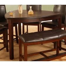 Best Quality Dining Room Furniture Best Quality Furniture Triangular Weathered Oak Counter Height