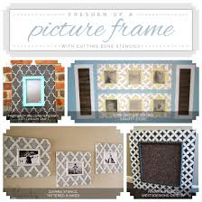 Home Decor Photo Frames Freshen Up A Picture Frame With Stencils Stencil Stories