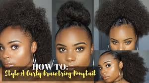 drawstring ponytail how to style a curly drawstring ponytail
