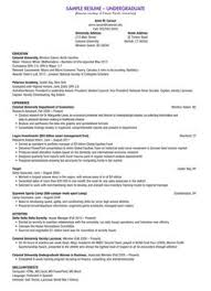 Resume Sample For College by College Resume Sample Resume For A College Student Sans Serif