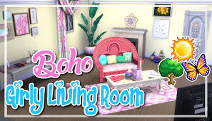 livingroom cartoon the sims 4 room build boho girly living room youtube