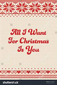 all want christmas you lettering design stock vector 530599888