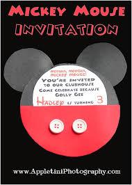 mickey mouse invitation appletini photography