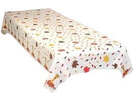 fall leaves plastic tablecloth 54 x 108 home kitchen