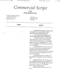 tv commercial script template untitled document