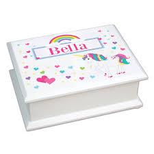 Girls Personalized Jewelry Box Personalized Unicorn Jewelry Box For Girls Custom Jewelry