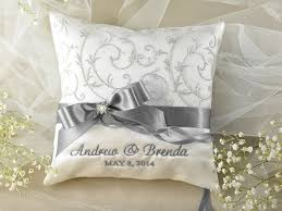wedding pillows lace wedding pillow ring bearer pillow embroidery names ivory